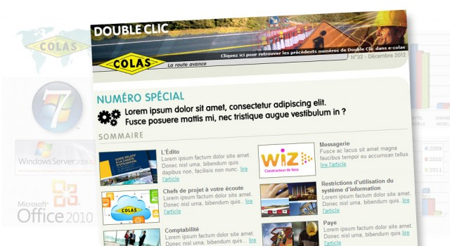Colas Double Clic – Newsletter
