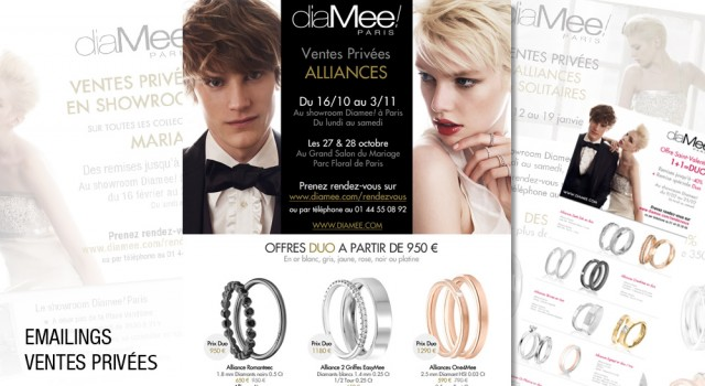 Diamee Paris – Emailings promotionnels