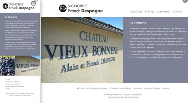 Vignobles Despagne – Site responsive