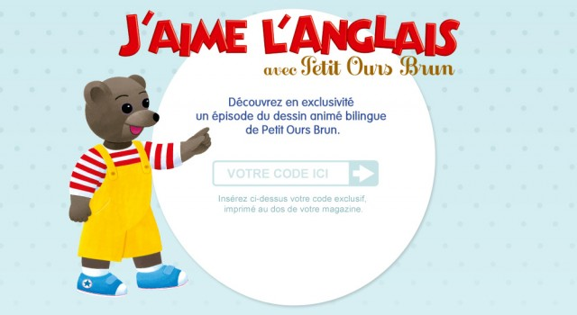Petit Ours Brun – Landing page
