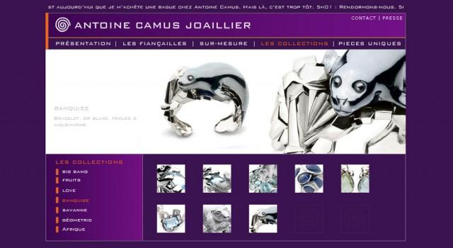Antoine Camus – Site web