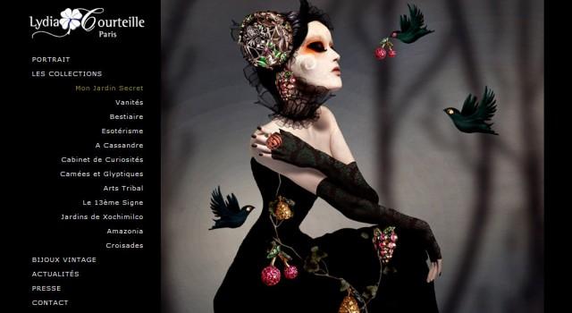 Lydia Courteille – Site web