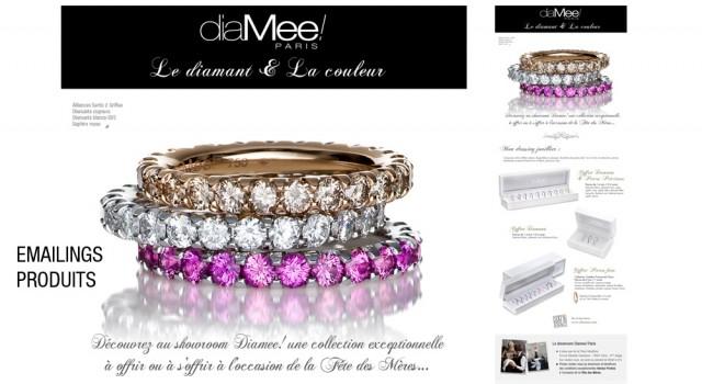 Diamee Paris – Emailings promotionnels