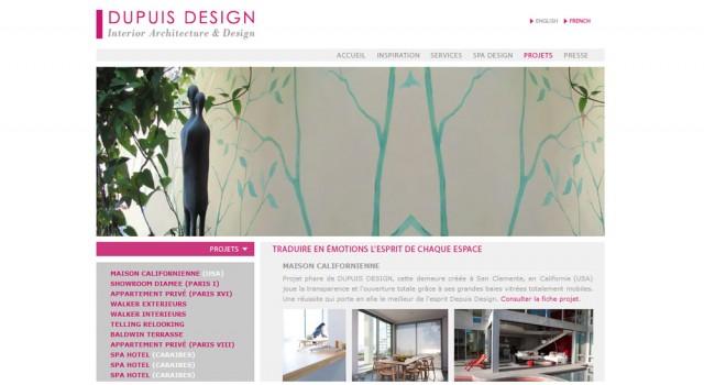 Site web – Dupuis Design