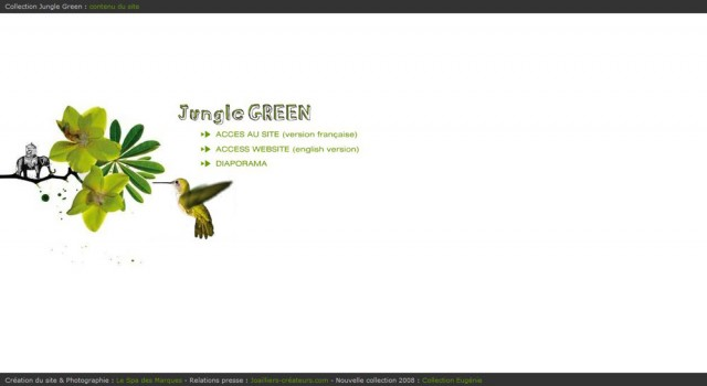 Collection Jungle Green – Site web