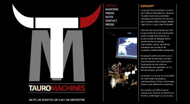 Tauromachines – Site web