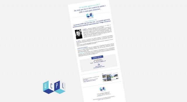 UCPL Communiqué de presse – Newsletter