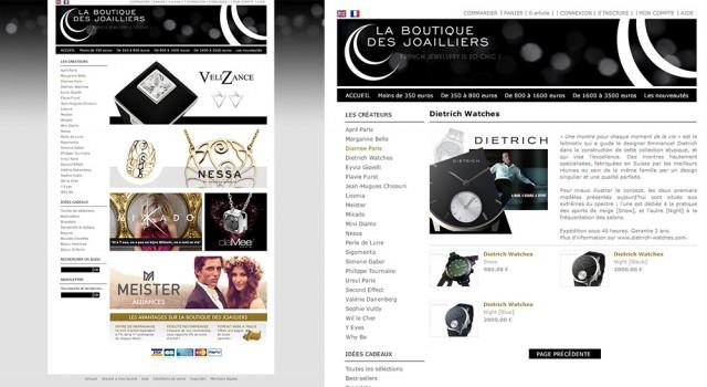 La Boutique des Joailliers – Online shop