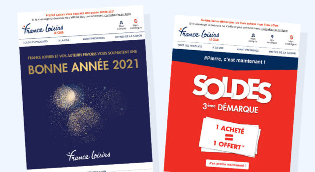 France Loisirs Emailings